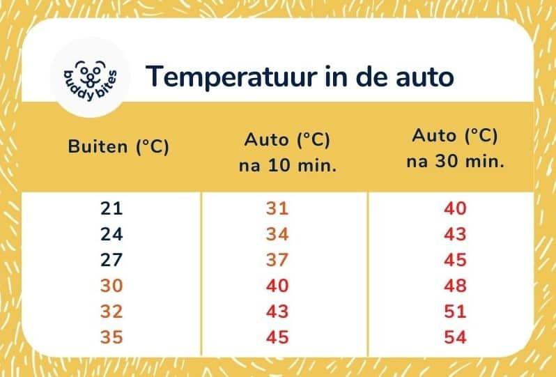 Temperatuur auto hond